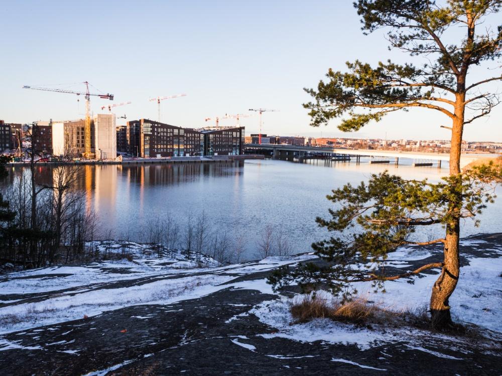 Kalasatama Mustikkamaan pohjoispuolen kallioilta 27.12.2015