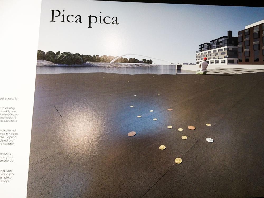 Kalasataman taidekilpailun voittajat/Capellanaukio: Olli Keränen ja Maija Luutonen: Pica Pica