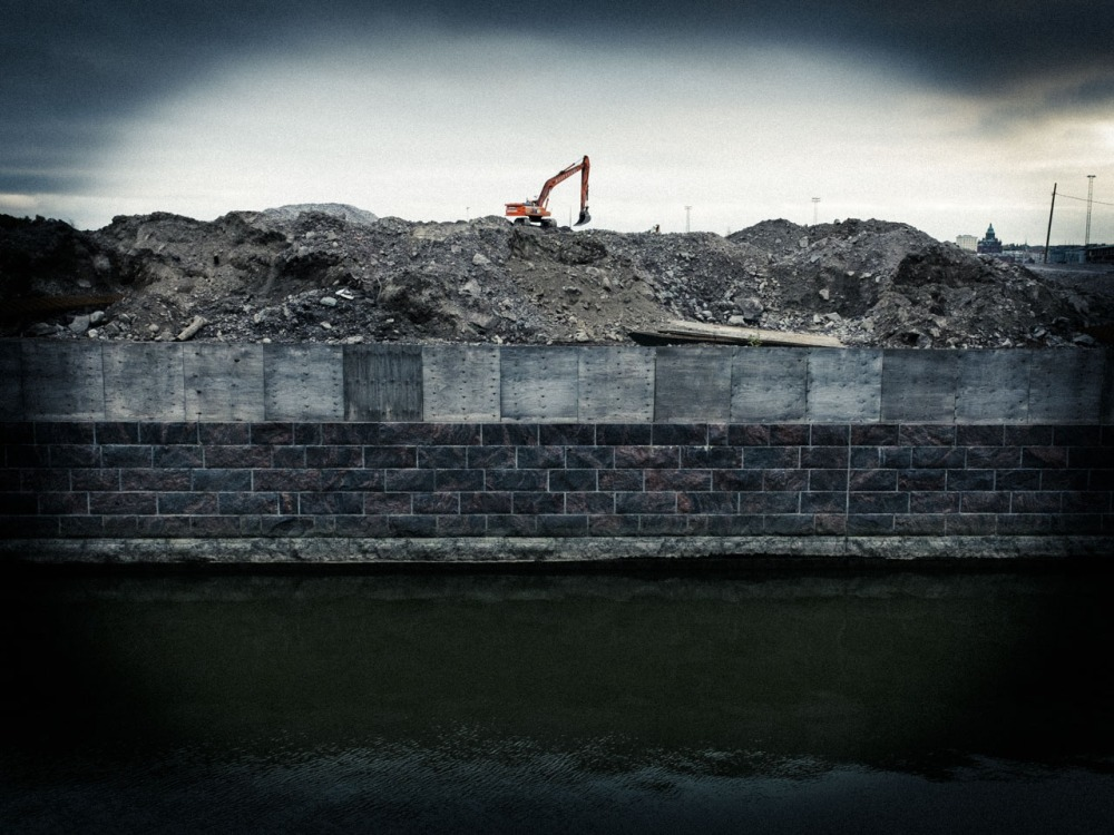Sompasaari Kalasatama rakentaminen työmaa rakennustyömaa