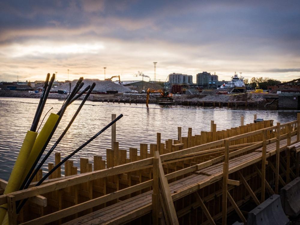 Sompasaari Kalasatama Parrulaituri rakennustyömaa työmaa