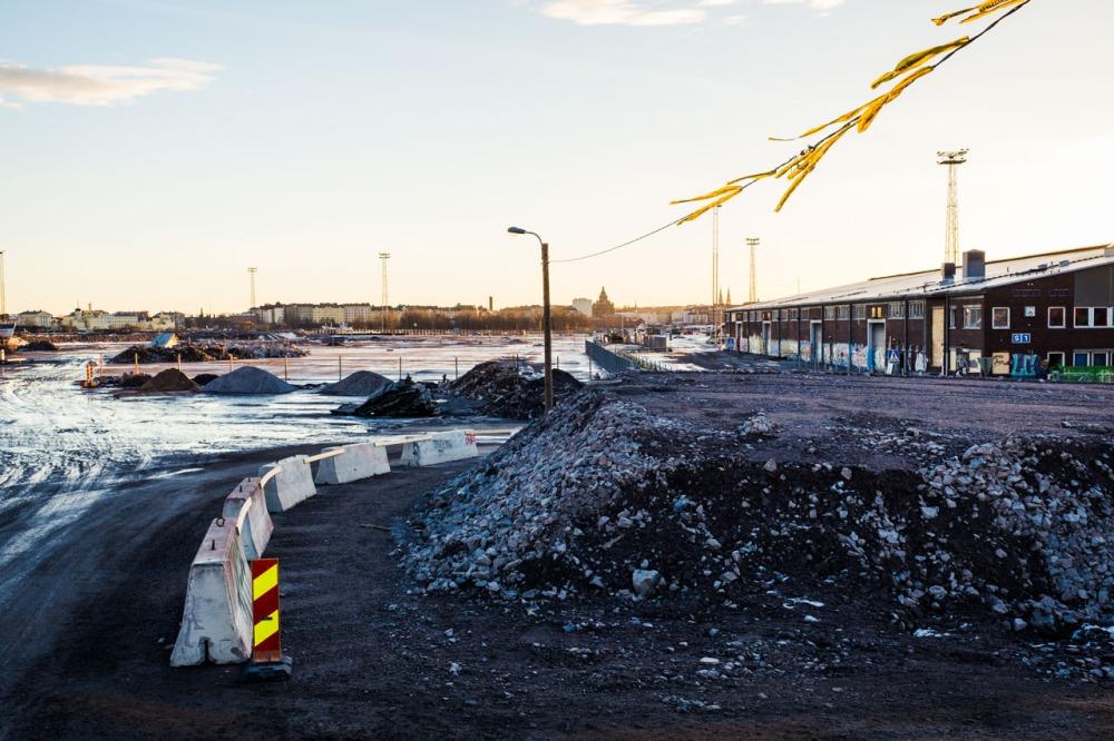 Kalasatama Sompasaari Nihti 2017 rakennustyömaa