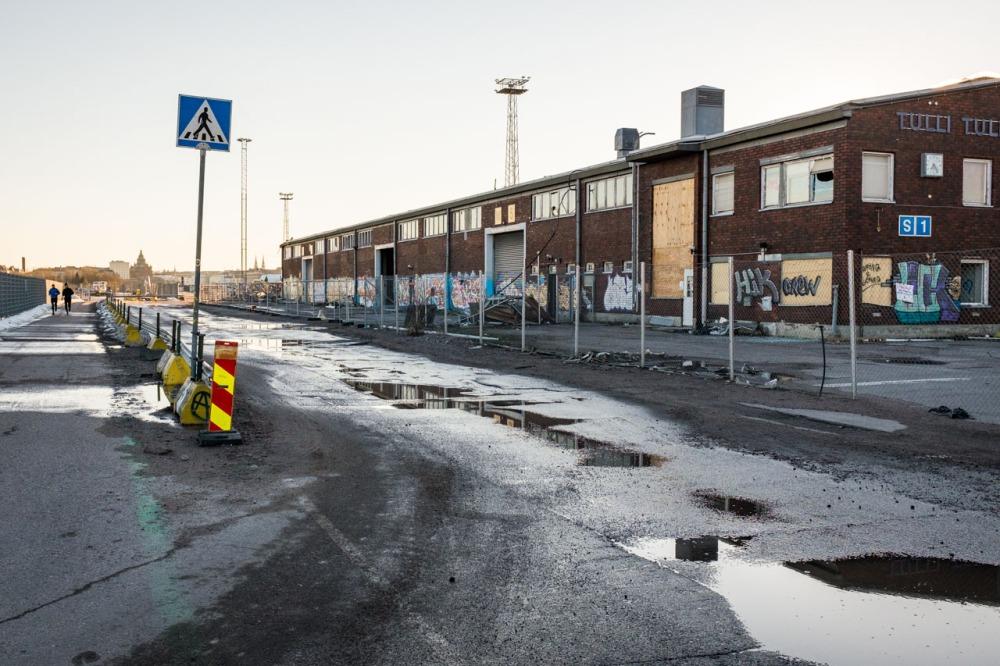 Sampasaari rakennus työmaa Kalasatama Sörnäinen tulli varasto