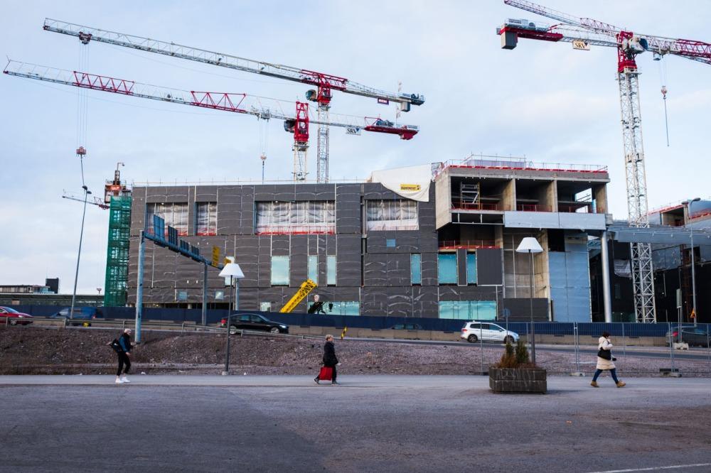 REDI Kalasatama Kalasataman keskus ostoskeskus rakennus työmaa rakennustyömaa