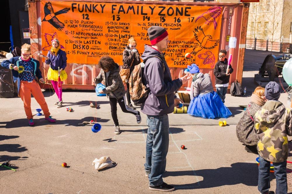 Funky Family Zone at Cirko-festival Suvilahdessa