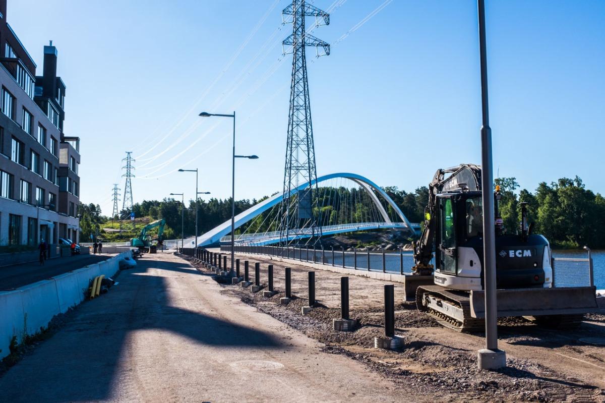Sörnäistenniemen valmistuvat rakennustyöt kesällä 2017