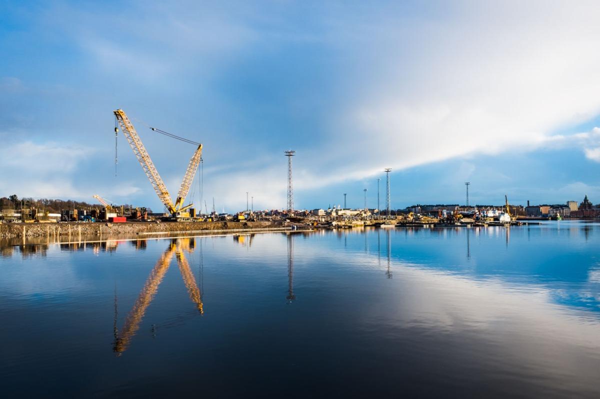 Kalasataman rakentamista 2017 ja 2018