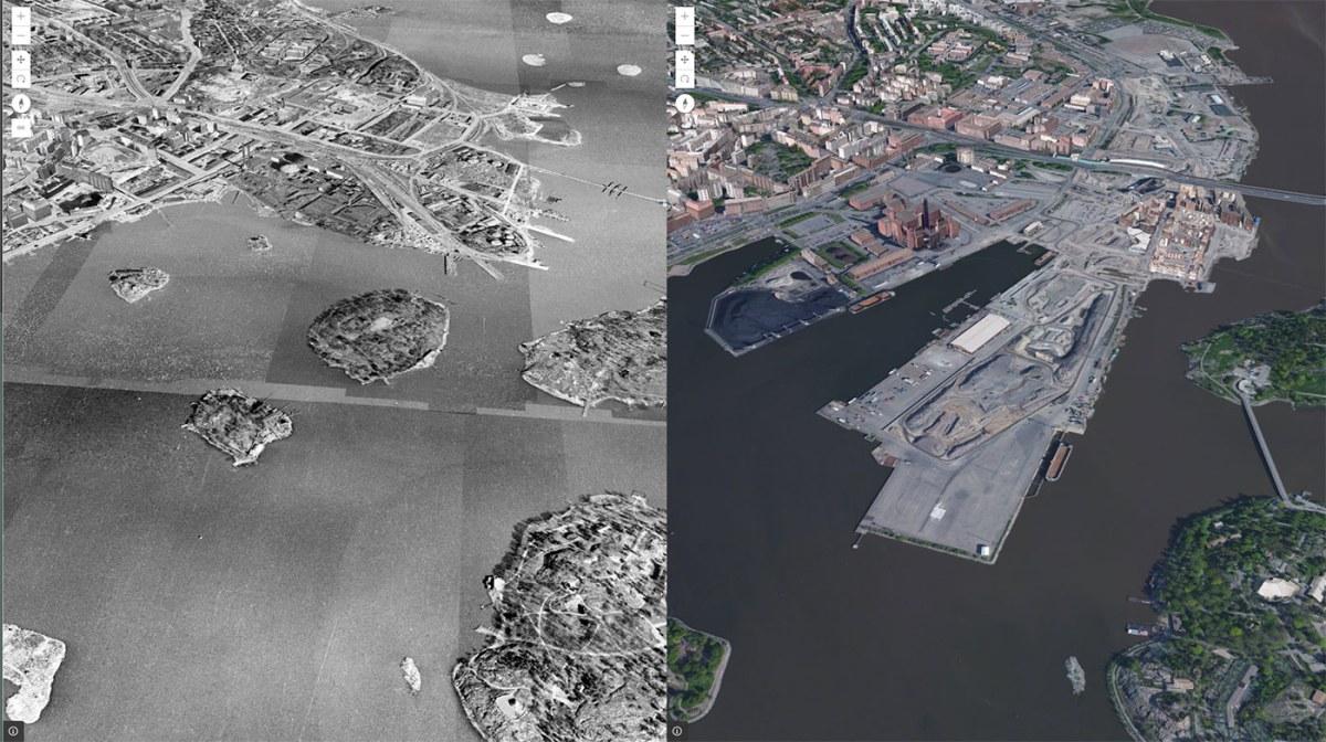 Kalasatama ilmakuvassa: 1943 ja nyt