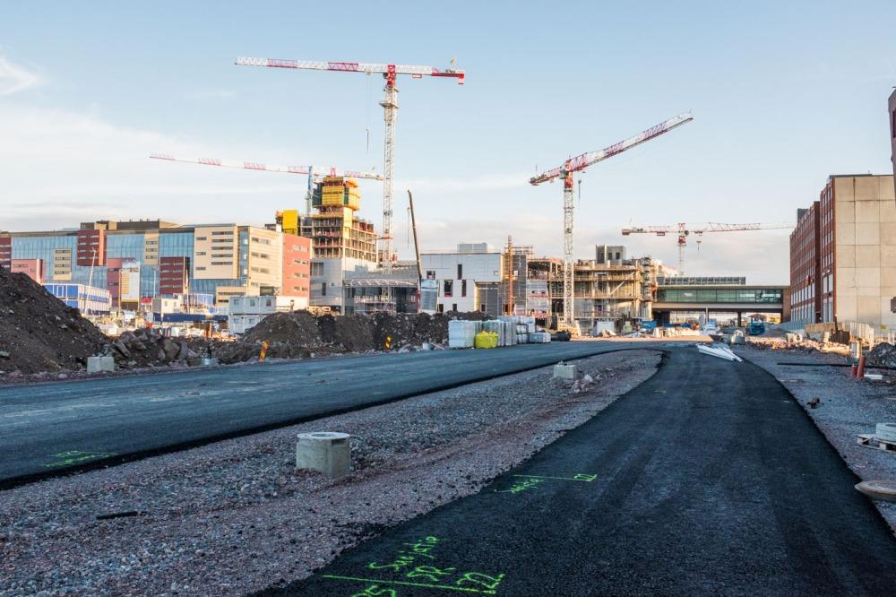 Hermannin rantatie REDIn ja Kalasataman metroaseman suuntaan 7.8.2017