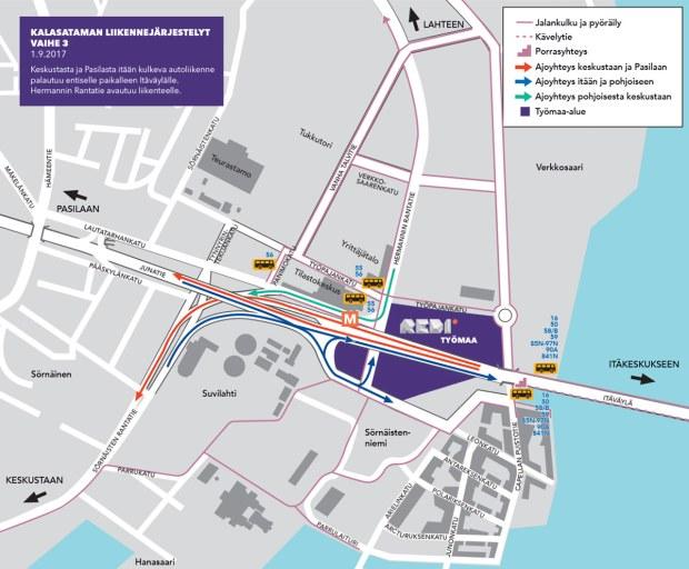 Kalasataman ja Itäväylän liikennejärjestelyt, vaihe 3