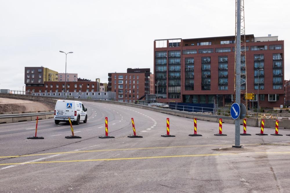 Itäväylän väliaikainen kiertotie on suljettu liikenteeltä