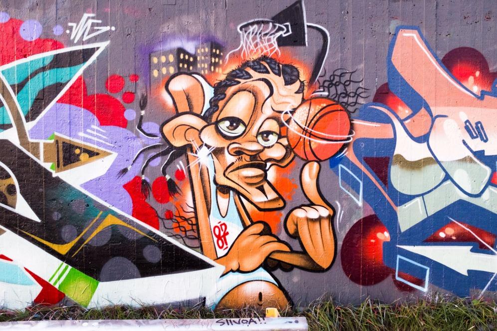 Sompasaari graffiti katutaide graffitiseinä