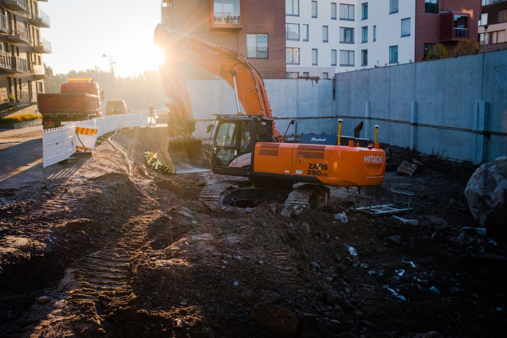 Polariksenkatu 9 ryhmärakennuttamishankkeen rakennustyöt Kalasatamassa