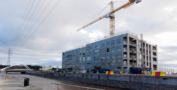 Hitas-talo Asunto Oy Helsingin Takila rakenteilla 17.11.2017
