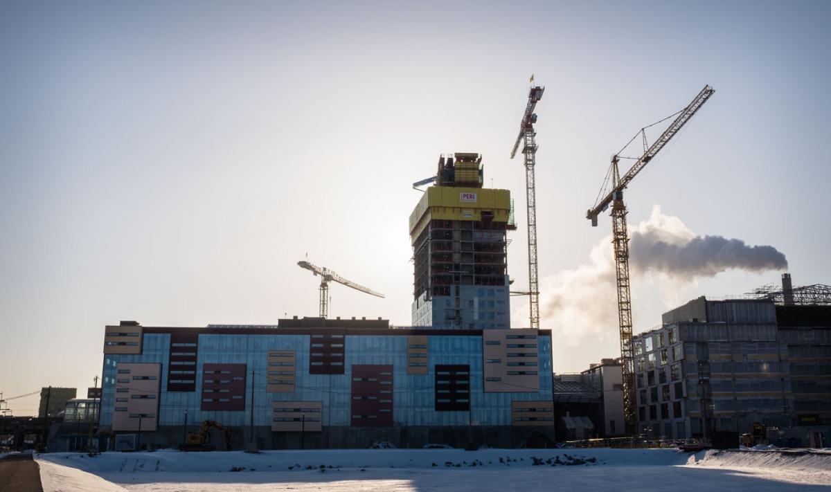 Kalasataman Sörnäistenniemen maisemia alkuvuonna 2018